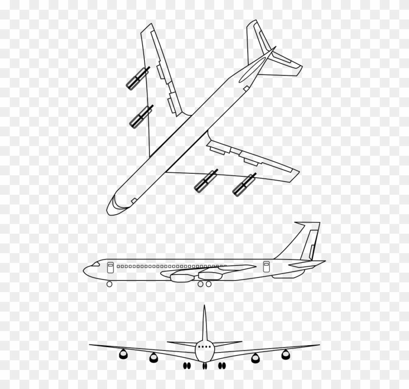 outline transparent airplane clipart