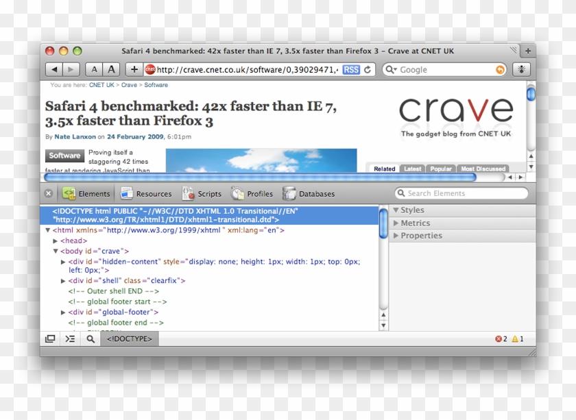 Safari - Safari Browser 3 1 Layout, HD Png Download