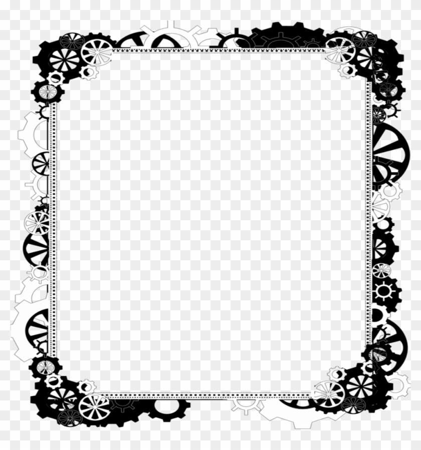 mq #black #white #frame #frames #border #borders - Steampunk