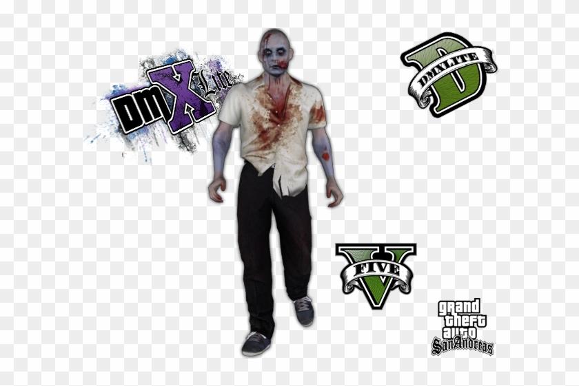 gta V] Zombie - Gta San Andreas, HD Png Download - 640x480