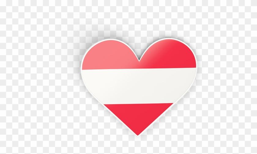 Austria Flag Heart Png, Transparent Png - 640x480(#425640
