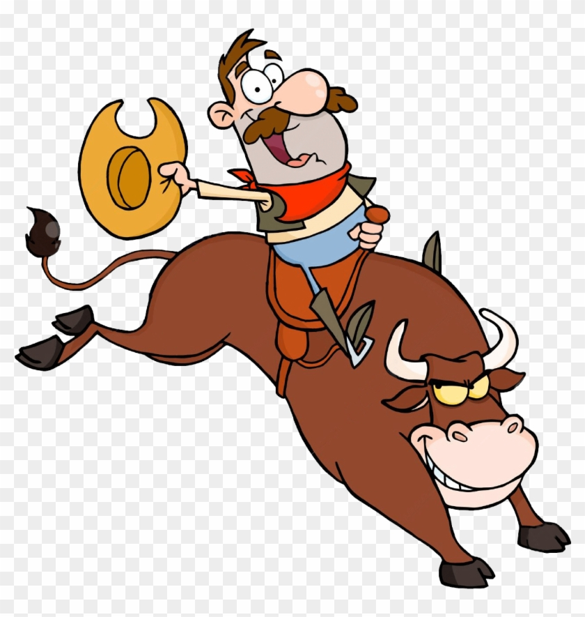 Rodeo Bull - Mechanical Bull Riding Clip Art, HD Png ...