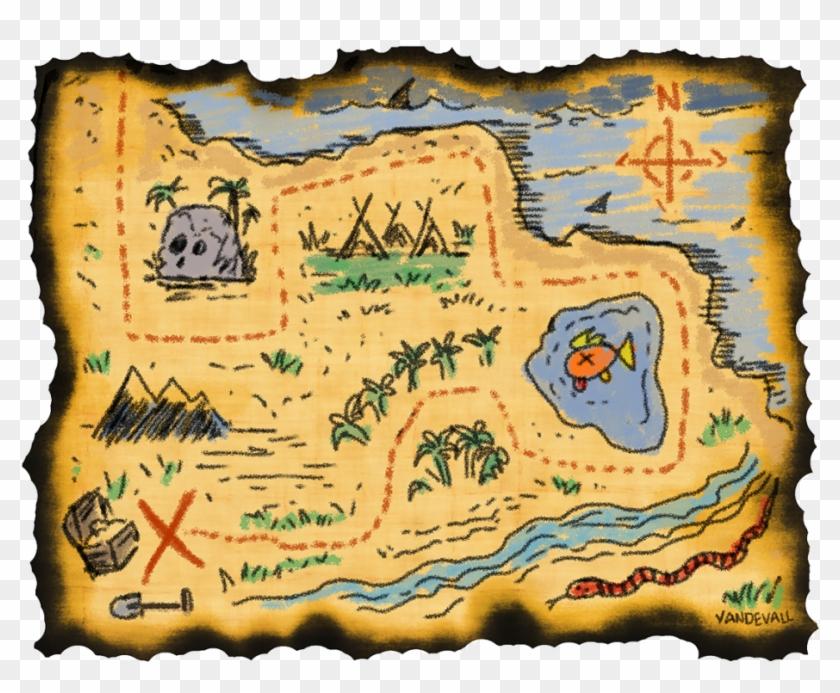 Editable Treasure Map Template, HD Png Download - 1024x791 ...