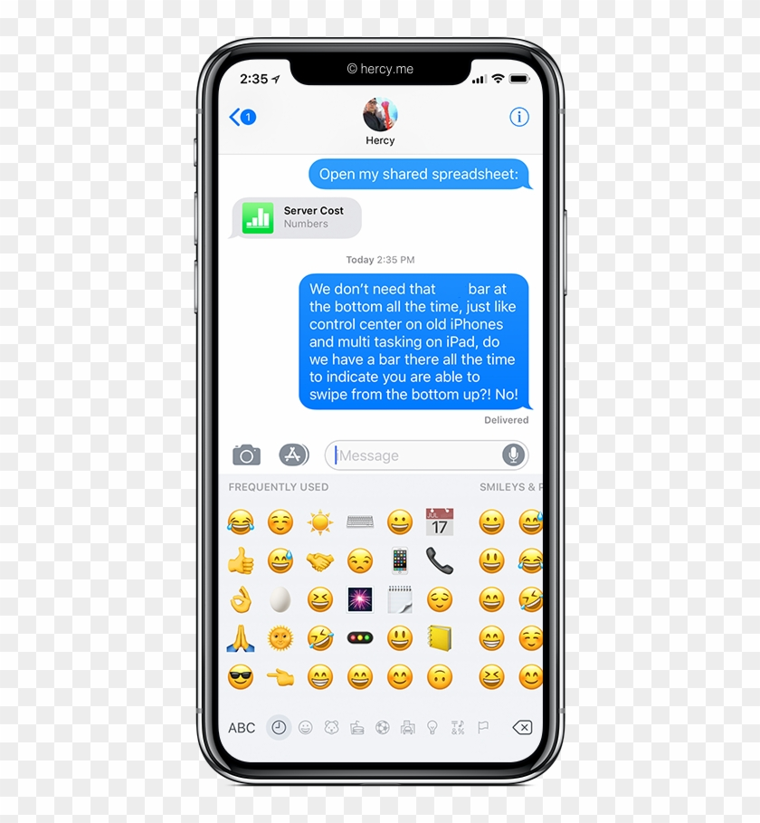 Iphone X Redesign - Iphone X Emoji Keyboard, HD Png Download