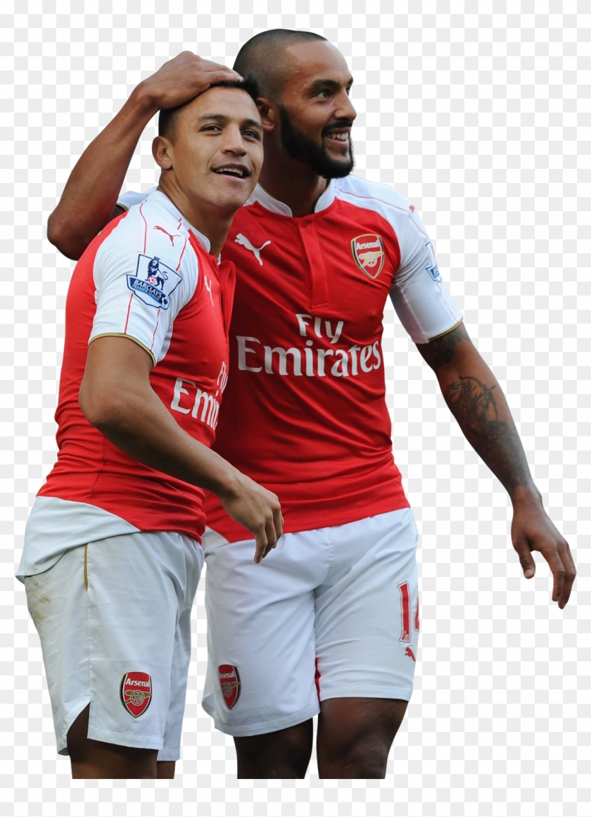 e90477bab Alexis Sanchez & Theo Walcott Render - Arsenal Home Kit 2011, HD Png  Download