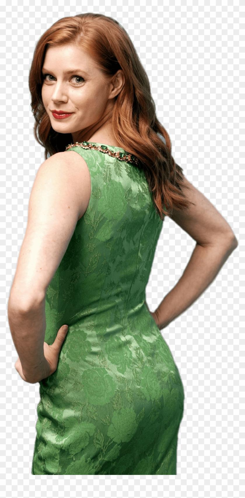Ass In Dress amy adams green dress - amy adams ass butt, hd png download