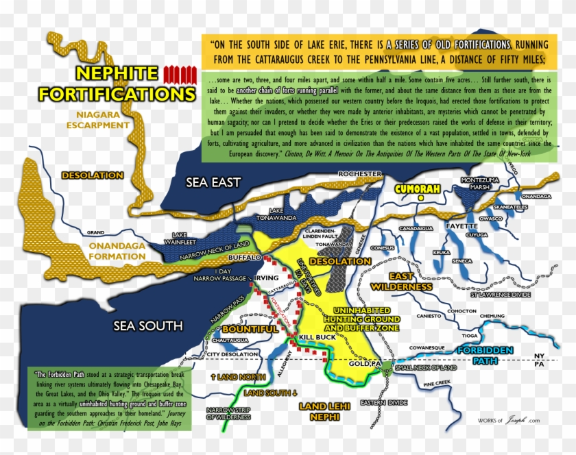 See Examples Of The Informative And Detailed Maps Below - Nephite
