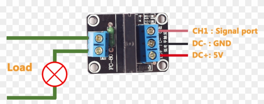 Solid State Relay - Arduino Solid State Relay Wiring, HD Png ... on