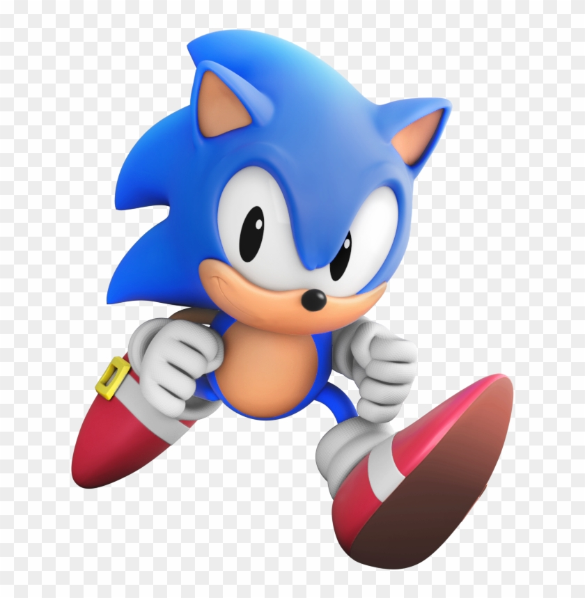 Twitter Jogos Do Sonic, Sonic The Hedgehog, Classic - Sonic Generations Classic  Sonic Render, HD Png Download - 696x819(#434234) - PngFind