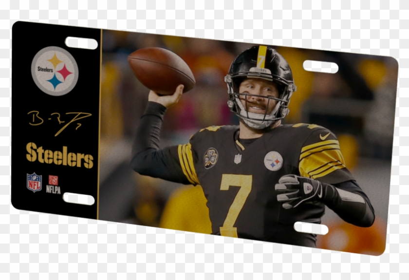 9c34a454b Pittsburgh Steelers Ben Roethlisberger Metal Photo - Logos And Uniforms Of  The Pittsburgh Steelers