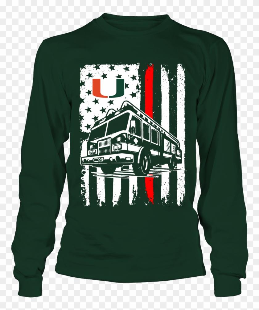 Firefighter Christmas Shirt.Miami Hurricanes Firefighter Flag Shirt Firefighter