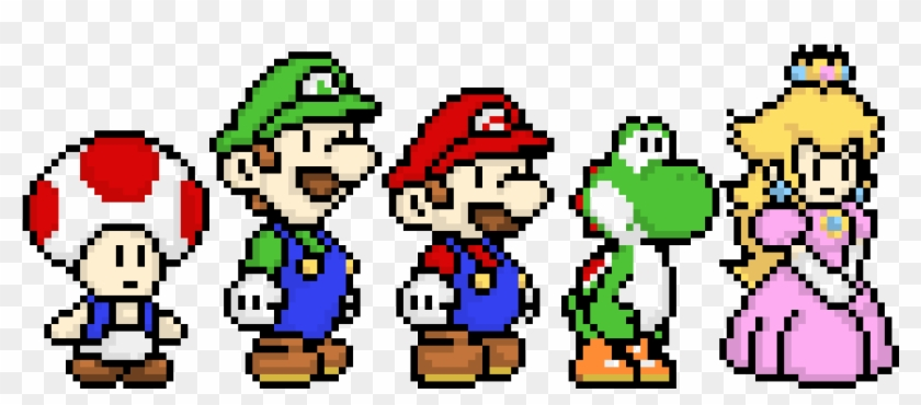 Mario Characters Super Mario Characters Pixel Hd Png Download