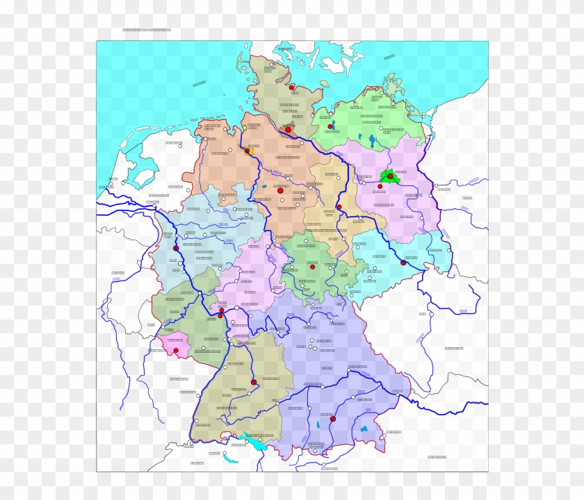 Free Vector Political Map Of Germany - Map Deutschland ...