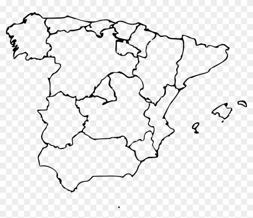 Map Of Spain On World Map.Autonomous Communities Of Spain World Map Blank Map Blank Regions