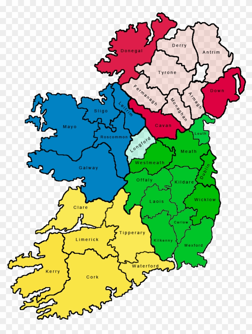Country Of Ireland Map.Map Of The 32 Counties Of Ireland Country Map Of Ireland Hd Png