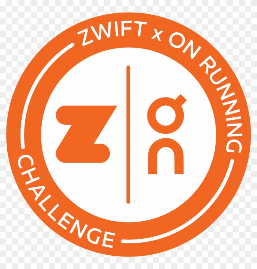Zwift X On Running Valentine's Challenge Logo - Circle, HD Png