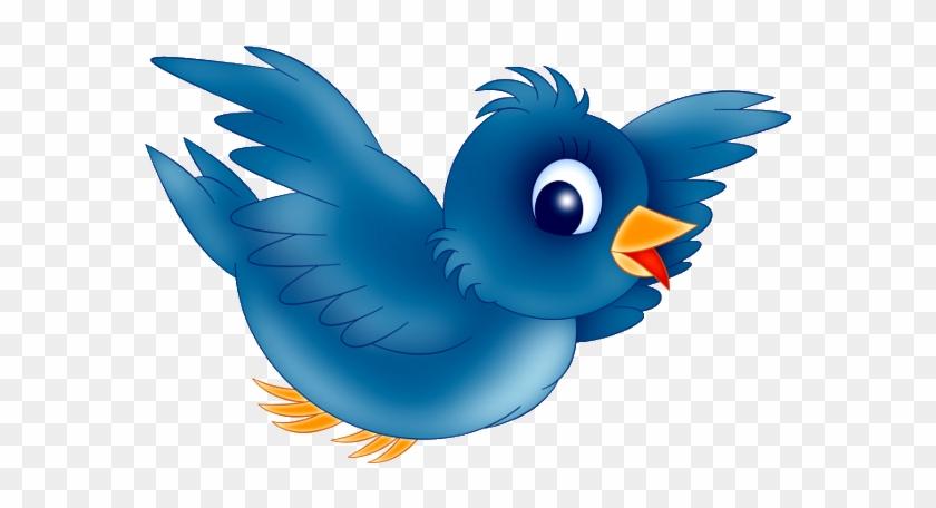 Bird animated. Blue clipart cartoon flying