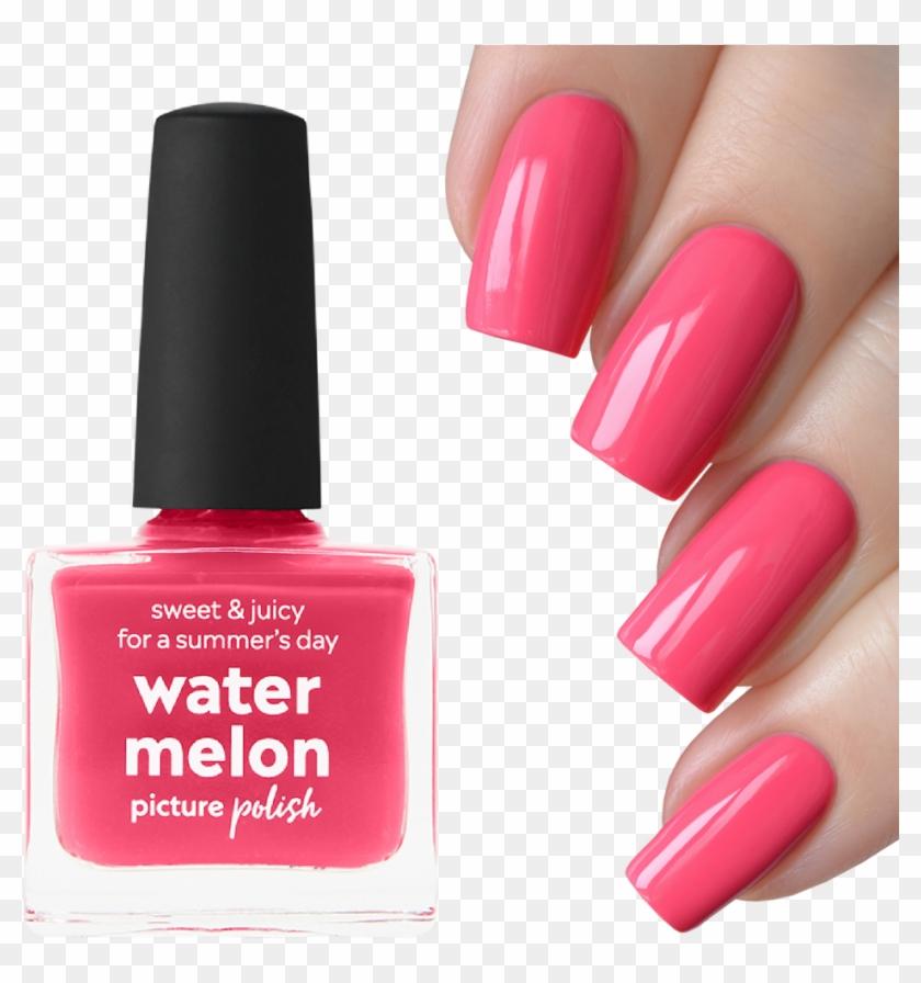 Nail Polish Watermelon - Nail, HD Png Download - 1000x1000(#448517 ...