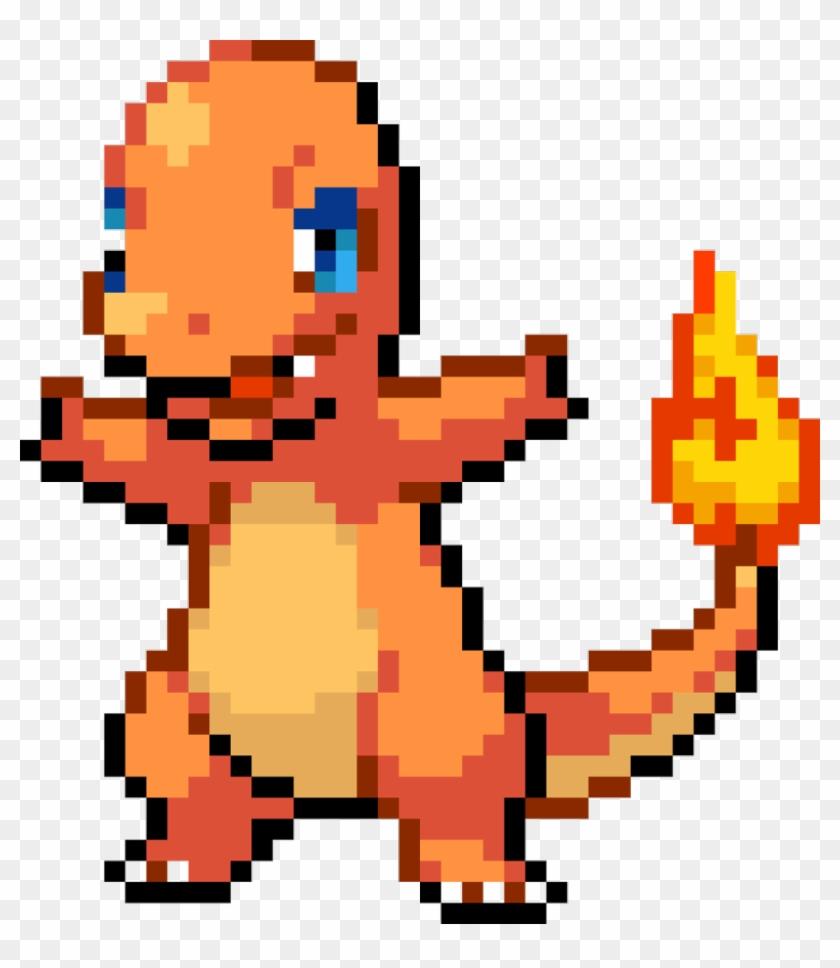 Charmander Sticker Pokemon Fire Red Charmander Sprite Hd Png Download 1024x1132 449210 Pngfind