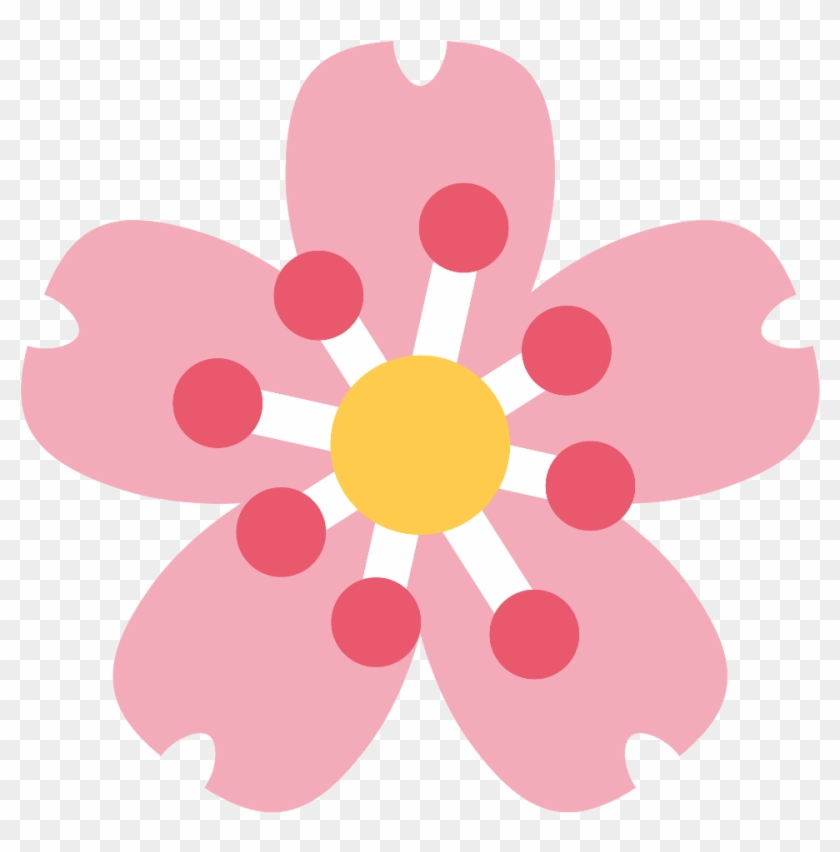 Hibiscus Flower Emoji Png Cherry Blossom Icon Png Transparent Png