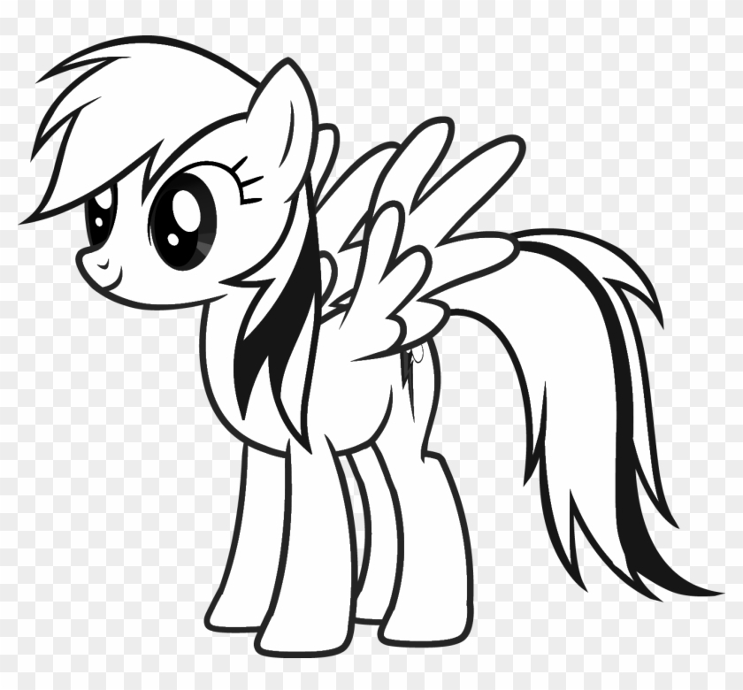 My Little Pony Para Colorir 05 Coloring Page Rainbow Dash Hd