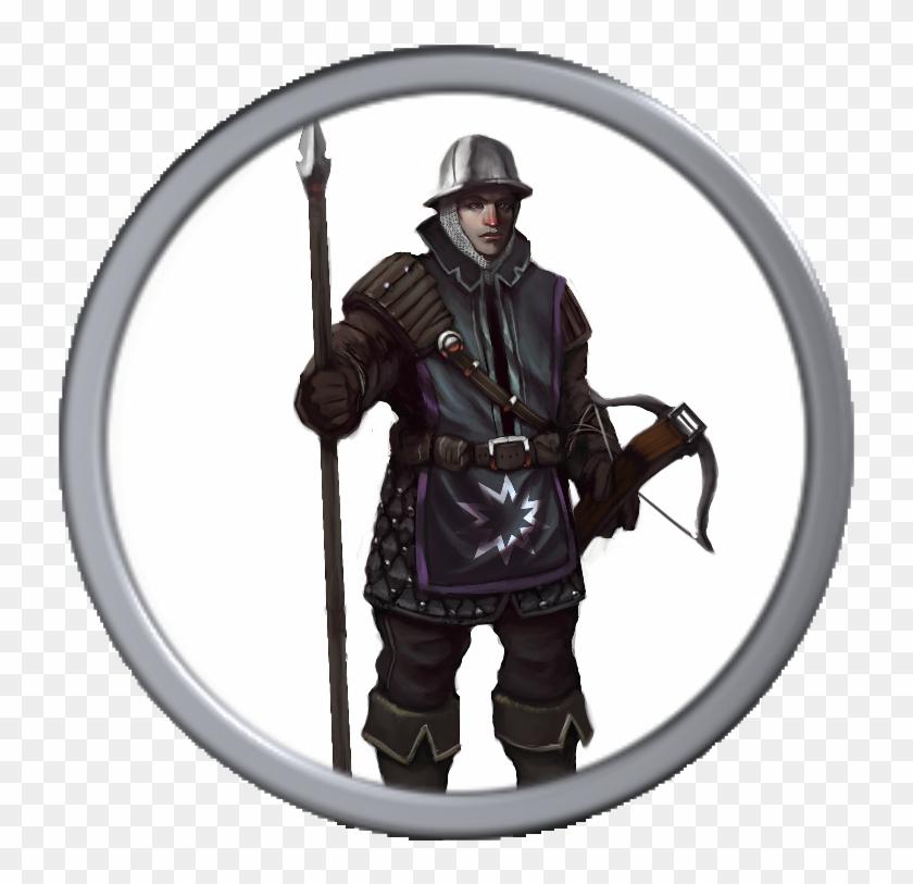 Eternal Flame Guardian Token - D&d Captain Of The Guard, HD Png