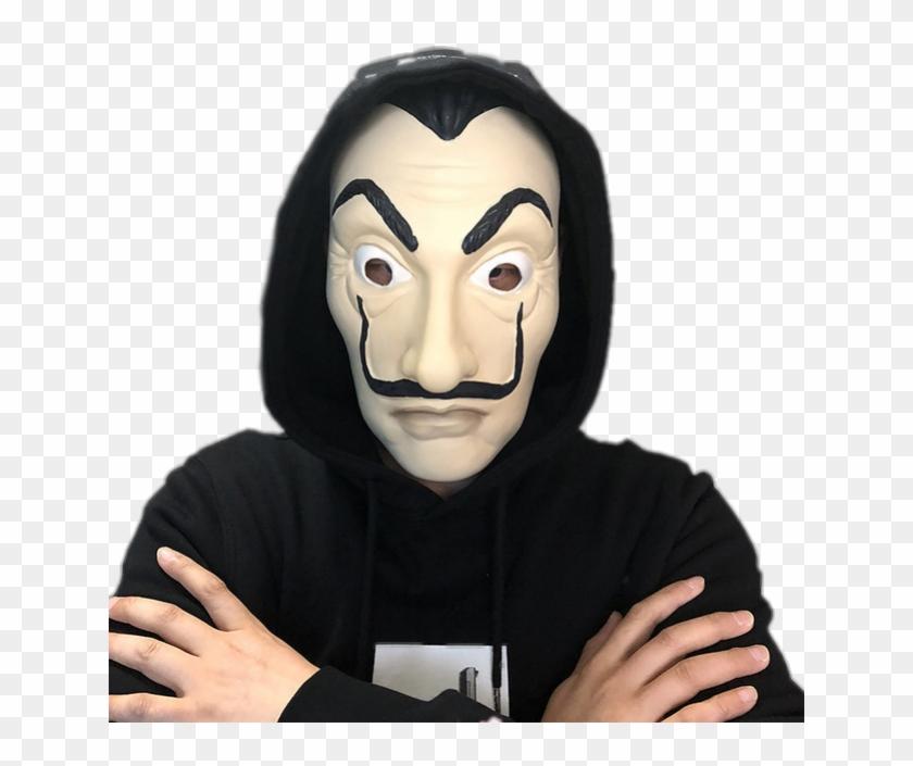Dali Sticker - Money Heist Mask, HD Png Download - 640x625(#4437542