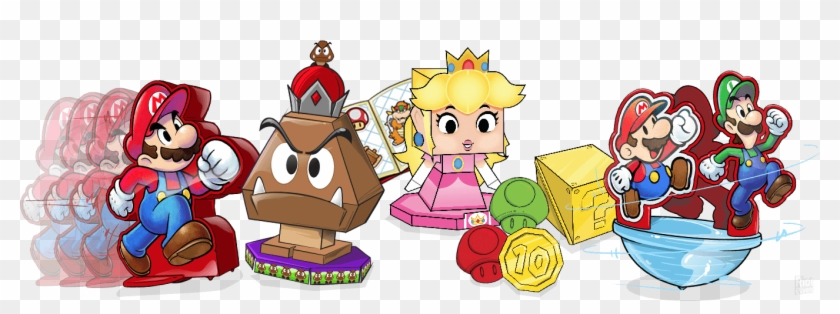Mario And Luigi Paper Jam Papercraft Peach Hd Png Download