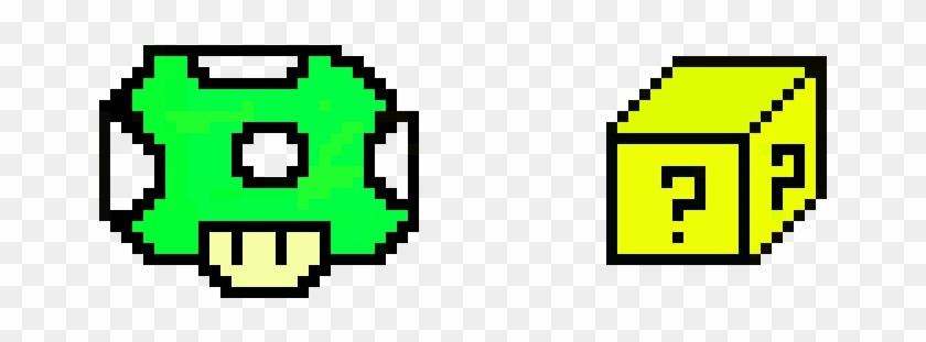 Super Mario Pixel Art 1up Mushroom And 3 D Mystery Transparent