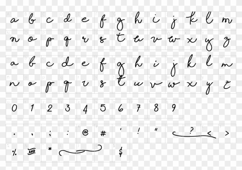 Character Map - Shoreline Script Font, HD Png Download - 963x633