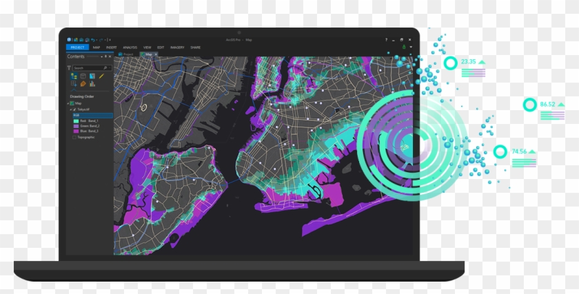 About Arcgis - Gis Linux, HD Png Download - 1097x506