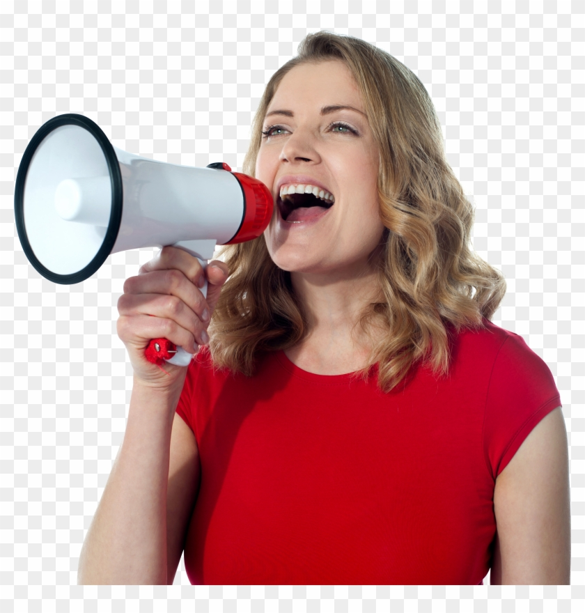 Women Free Commercial Use Png Image Woman With Megaphone Png Transparent Png 3870x2886 457758 Pngfind