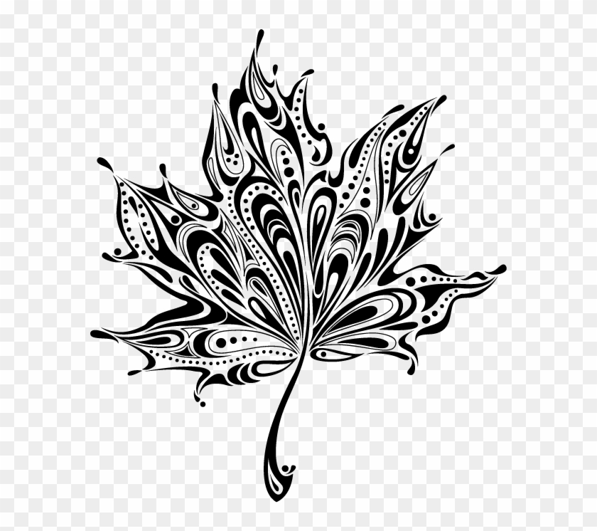Felicia Schneiderhan Black And White Autumn Leaf Tattoo Hd Png Download 661x741 4522459 Pngfind