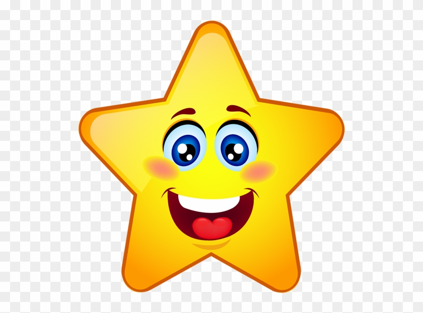 Star smiley. Clipart stars face with
