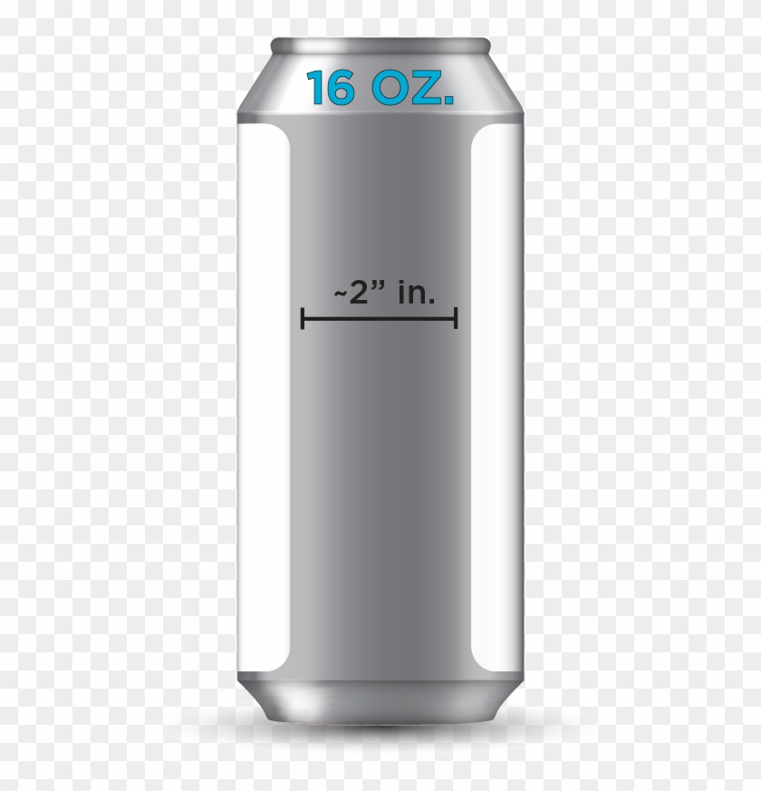 Label Size - 16oz Beer Can Template, HD Png Download