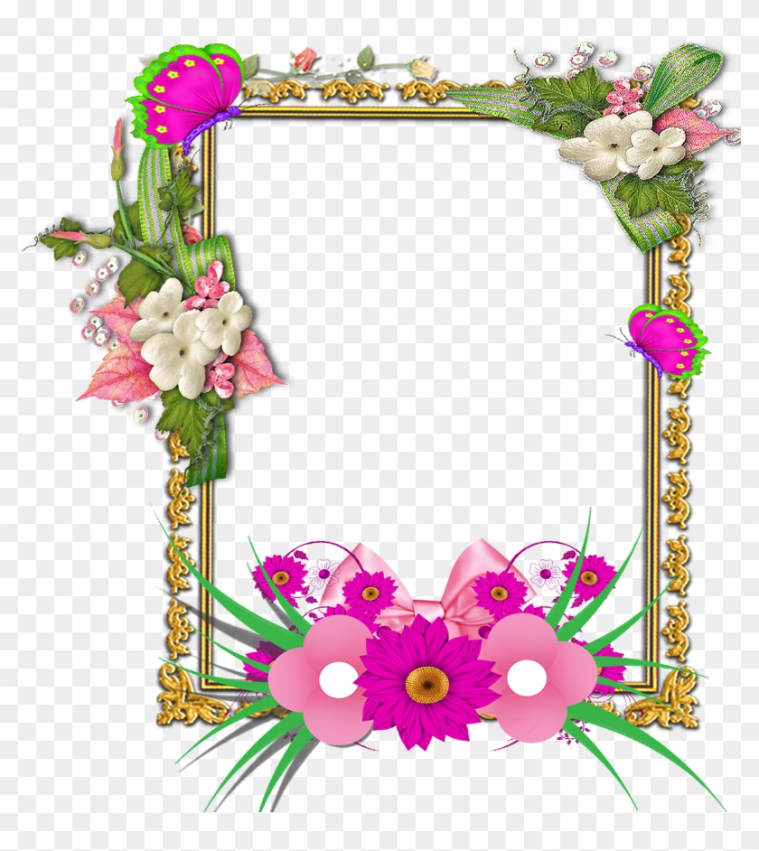 Flower Frame Png, Frame Floral, Png Photo, Frame Wreath