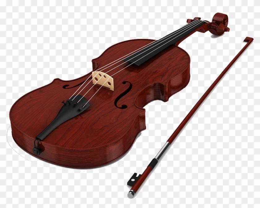 Violin 3d Model Free, HD Png Download - 1200x1200(#465620