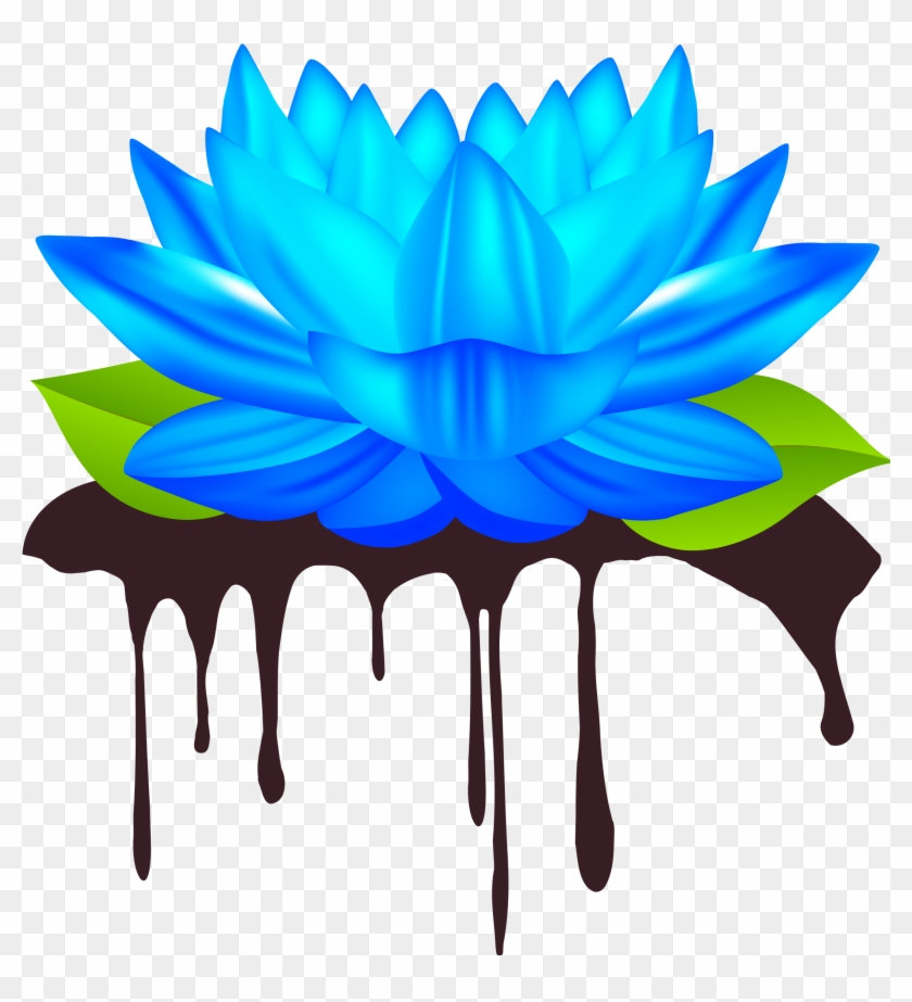 Go To Image Blue Lotus Flowers Clip Art Hd Png Download