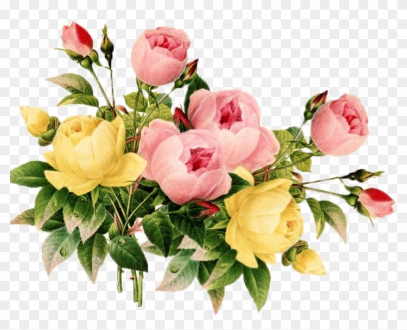 vintage flower clipart png