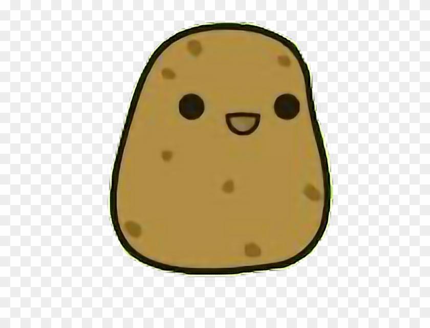 Potato Derp Kawaii Food Cute Freetoedit Potato Kawaii Hd Png Download 468x560 4604975 Pngfind