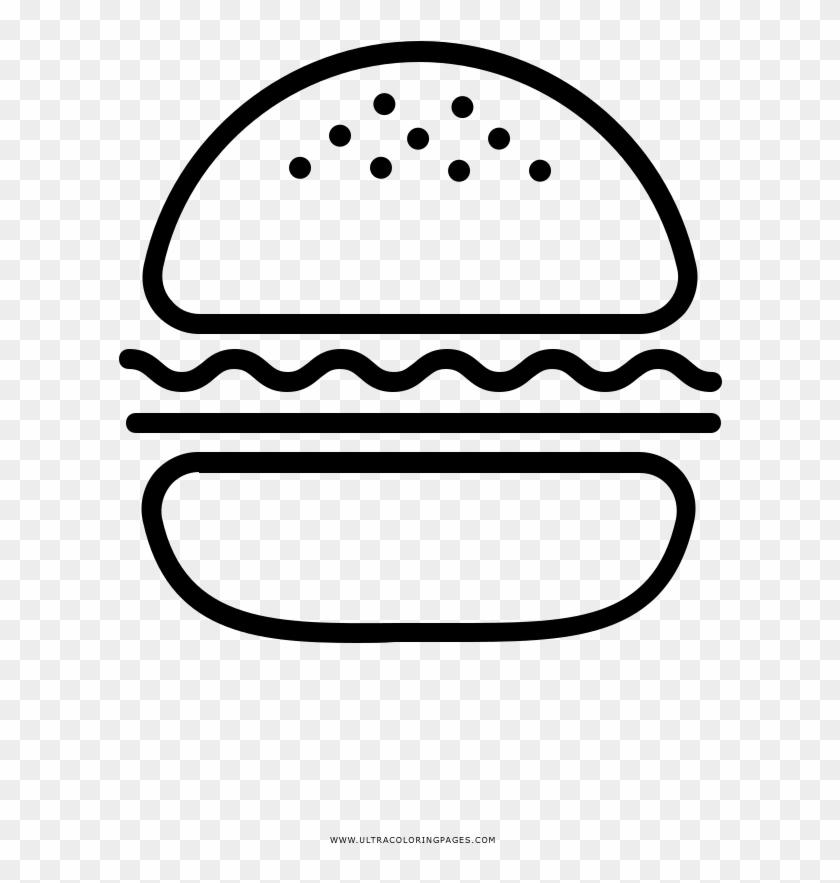 Burger Coloring Page Desenhos De Hamburguer Png Transparent Png
