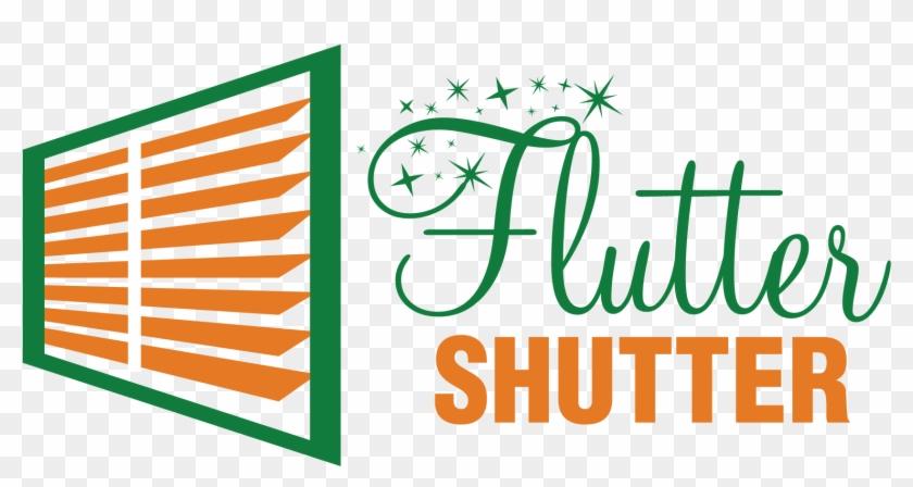 Flutter Shutter Logo - Graphic Design, HD Png Download - 1800x1018