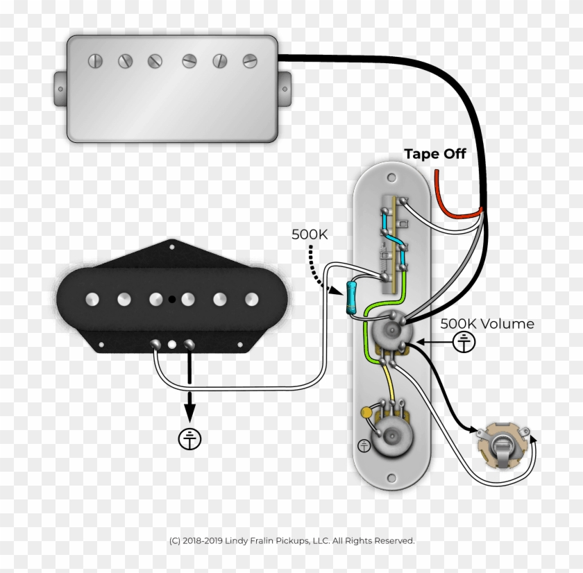 Lindy Fralin Pickups Using A Resistor In A Telecaster - Telecaster  Humbucker Neck Wiring Diagram, HD Png Download - 719x750(#4637943) - PngFindPngFind