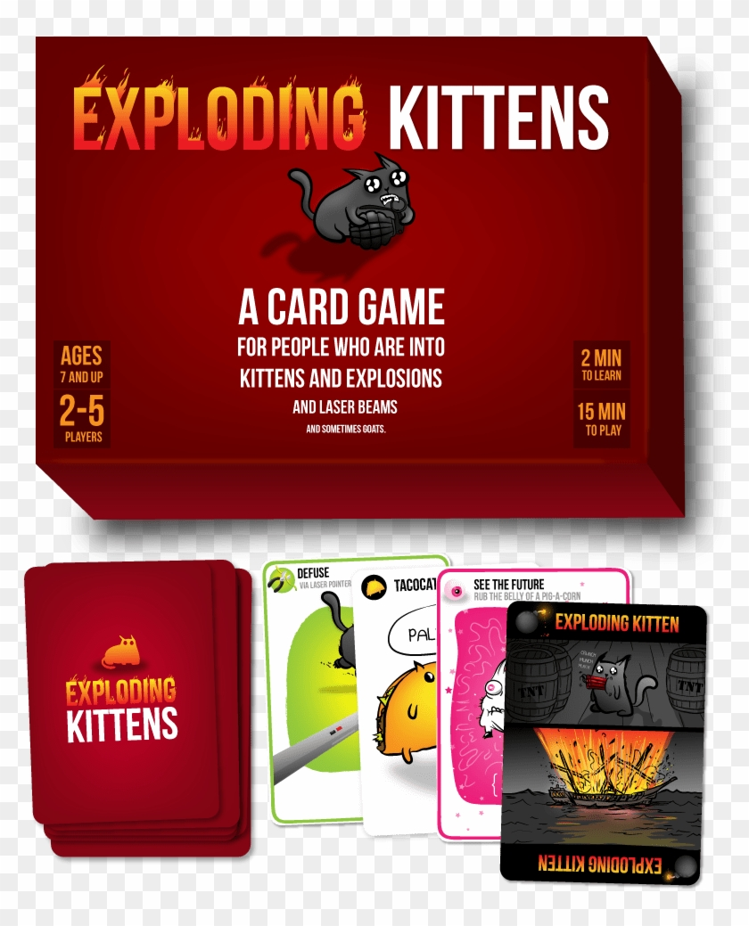 Image Of Exploding Kittens Card Game Exploding Kittens No Of Cards Hd Png Download 822x1016 4645610 Pngfind