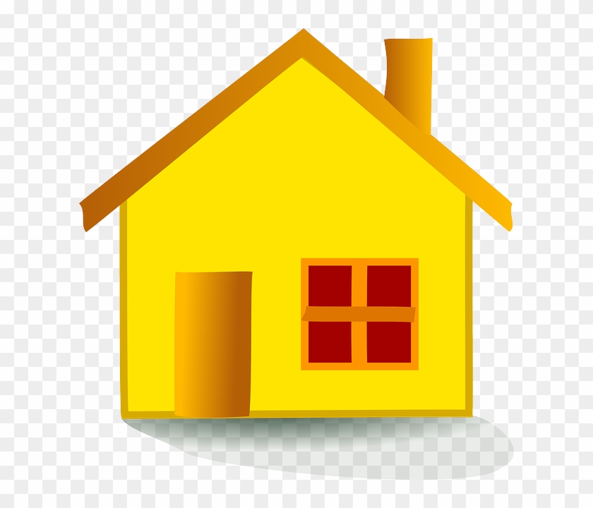 Homes Vector Guest House - Yellow House Clipart, HD Png Download