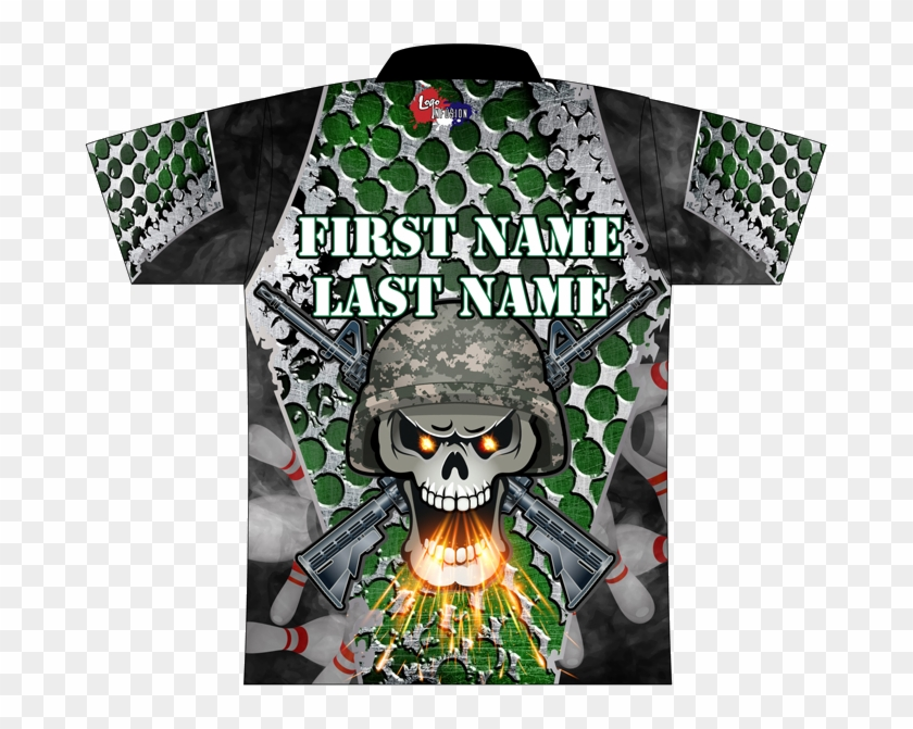 Skull Dye Sublimated Jersey - Fashion Design, HD Png