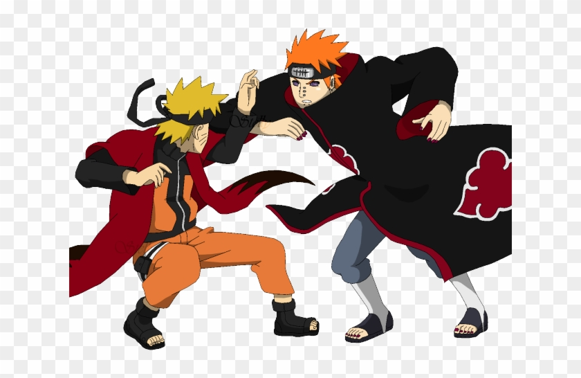 Naruto Clipart Transparent Background Naruto Vs Pain Png Png Download 640x480 4734711 Pngfind