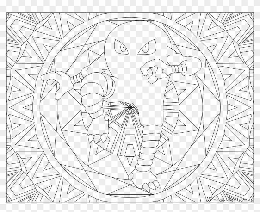 Hitmonlee Pokemon Mandalas De Pokemon Para Colorear Hd Png