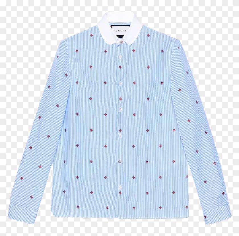 c5351b603b Gucci Bee Fil Coupé Cambridge Shirt - Pocket, HD Png Download ...
