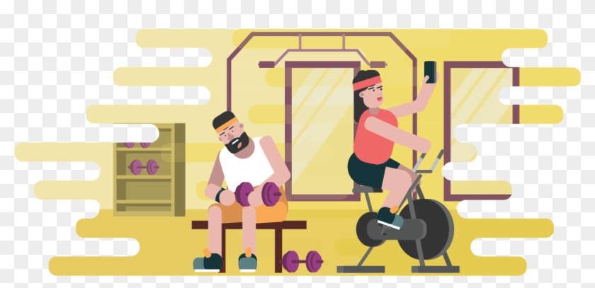 Exercise Clipart Gym Equipment Fitness Testing Png Transparent Png 1488x638 4750167 Pngfind